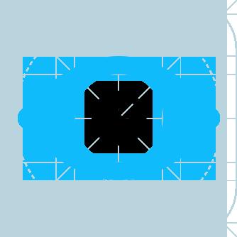 Ein stilisiertes Auge im Raster, das wie ein Fokus gestaltet ist.